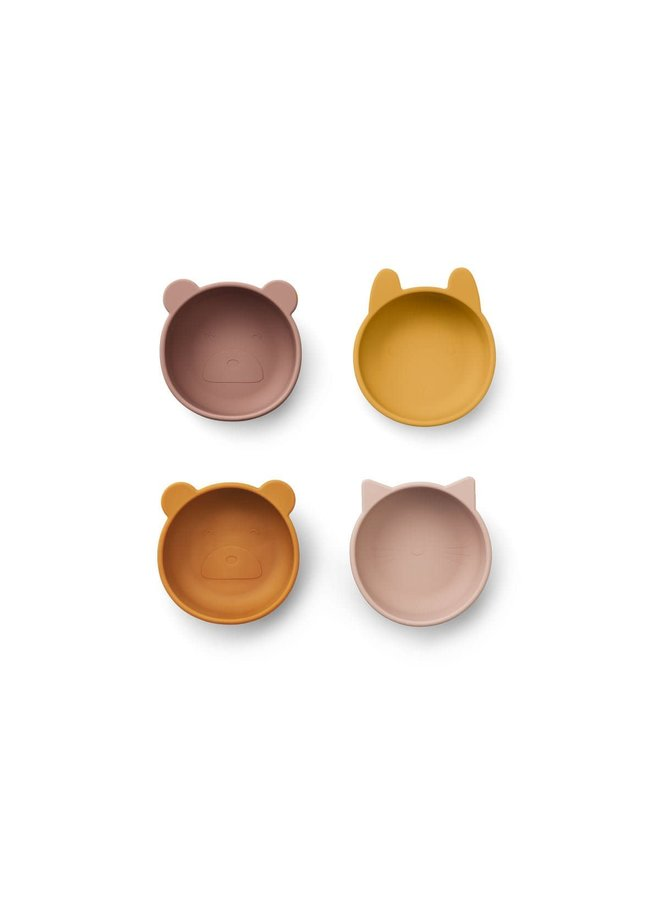 Iggy Silicone Bowls 4 Pack - Rose mix