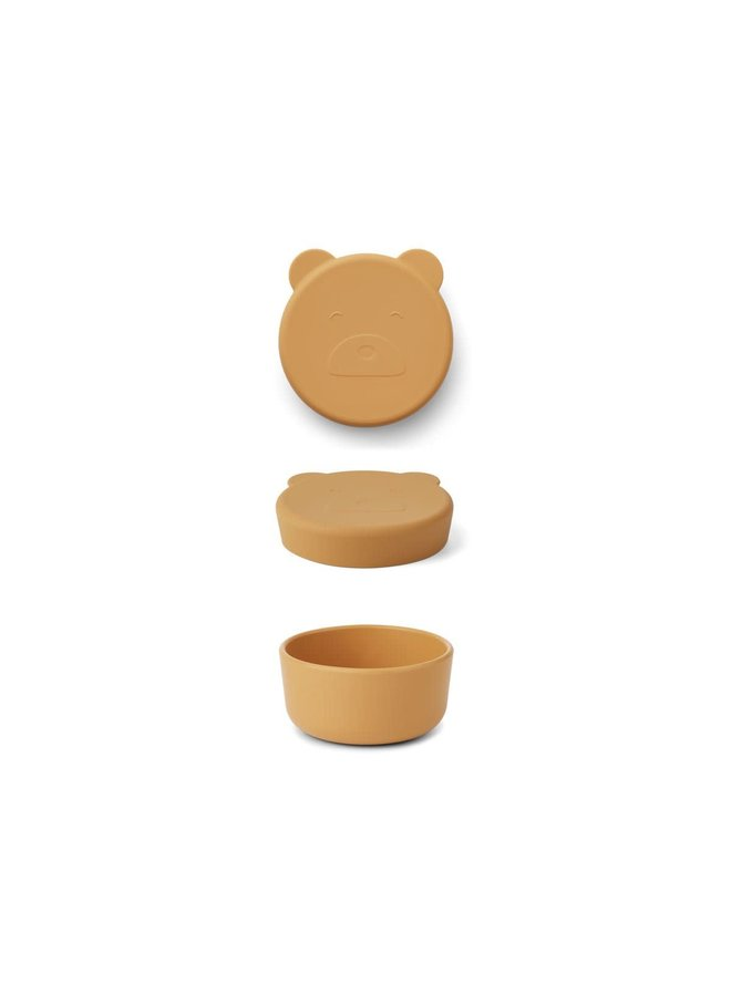 Liewood - Carrie Snack Box Small - Mr bear yellow mellow
