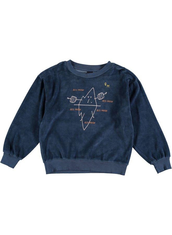 Sweatshirt velvet guardian - Navy