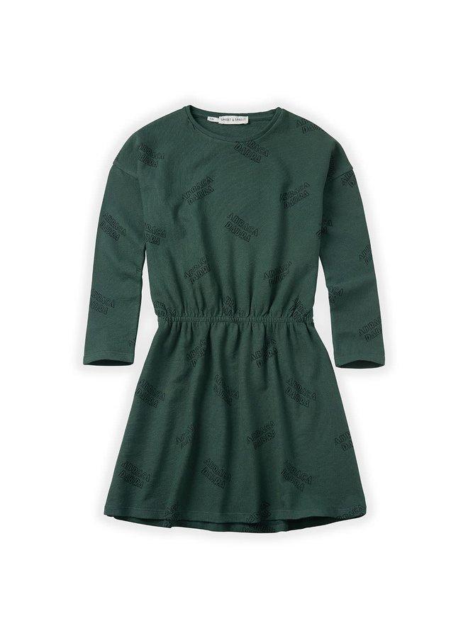 Dress Abracadabra AOP - Dusty Green