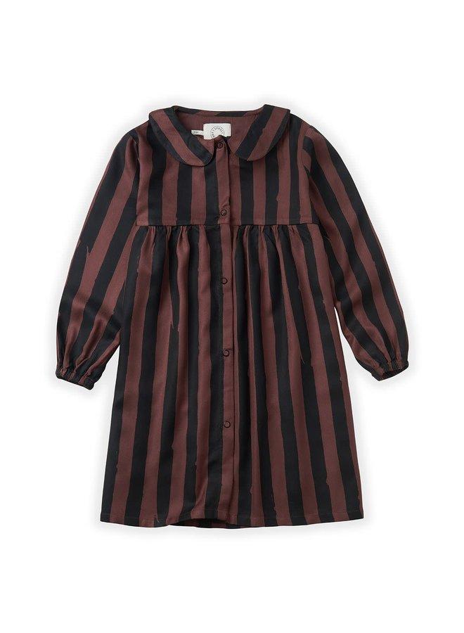 Dress Painted Stripe - Chocolate