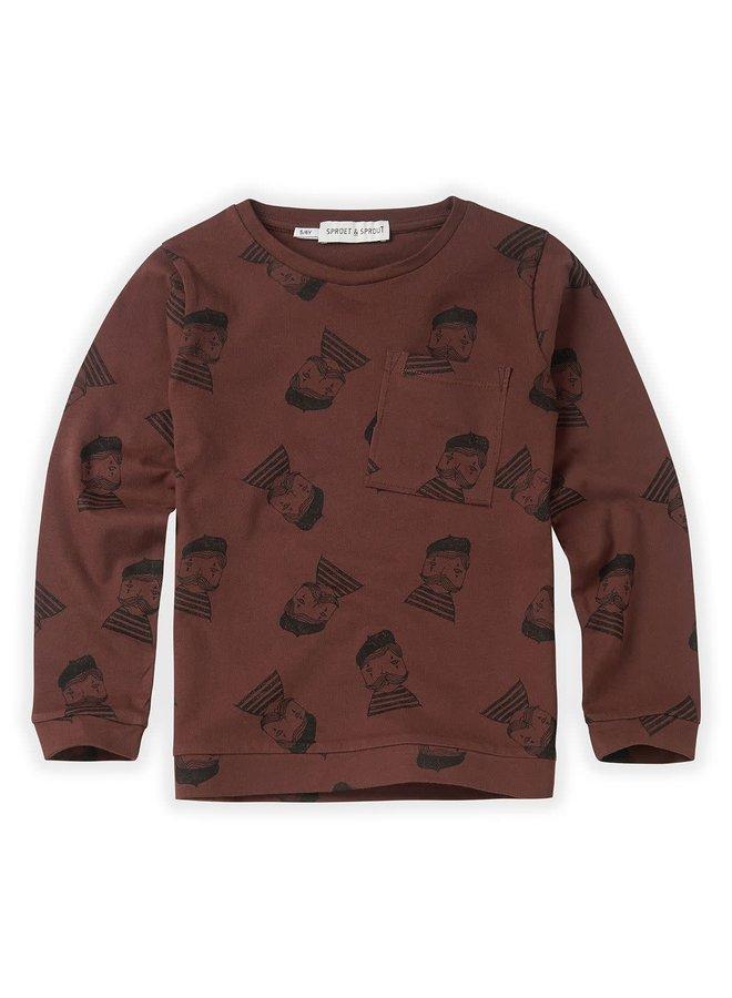 T-shirt Pierrot AOP - Chocolate