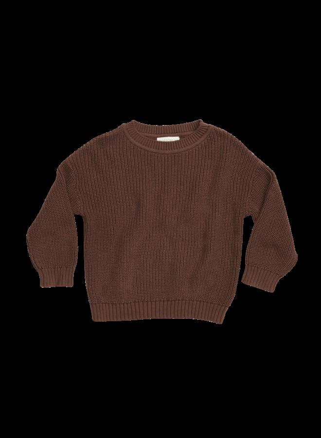 Knitted Jumper - Dark Chocolate