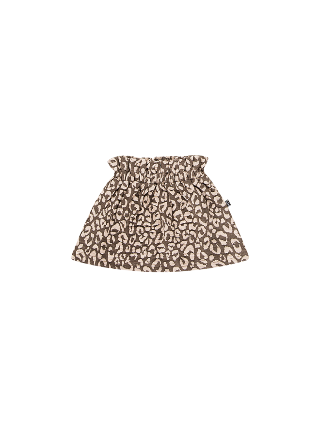 Paperbag Skirt - Rosewood Leopard