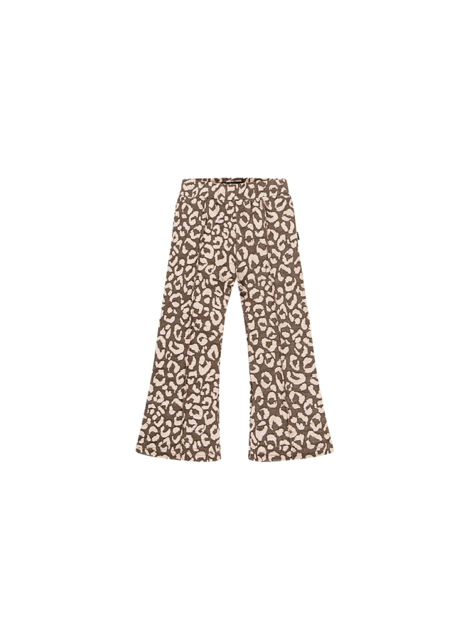 Flared Pants - Rosewood Leopard