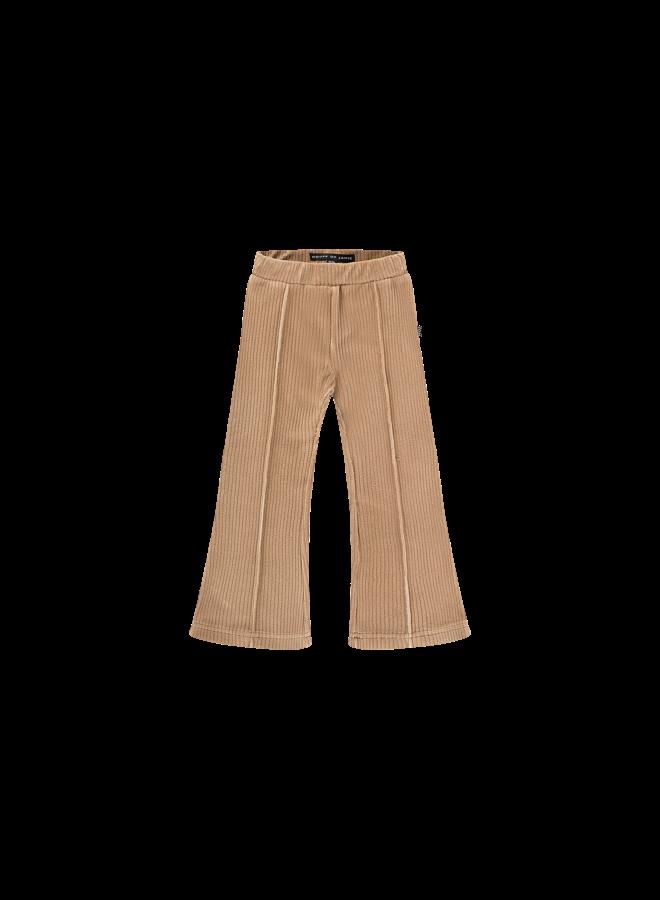 Flared Pants - Biscuit Rib Velvet