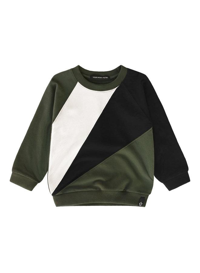 Block - Sweater - Desk Green