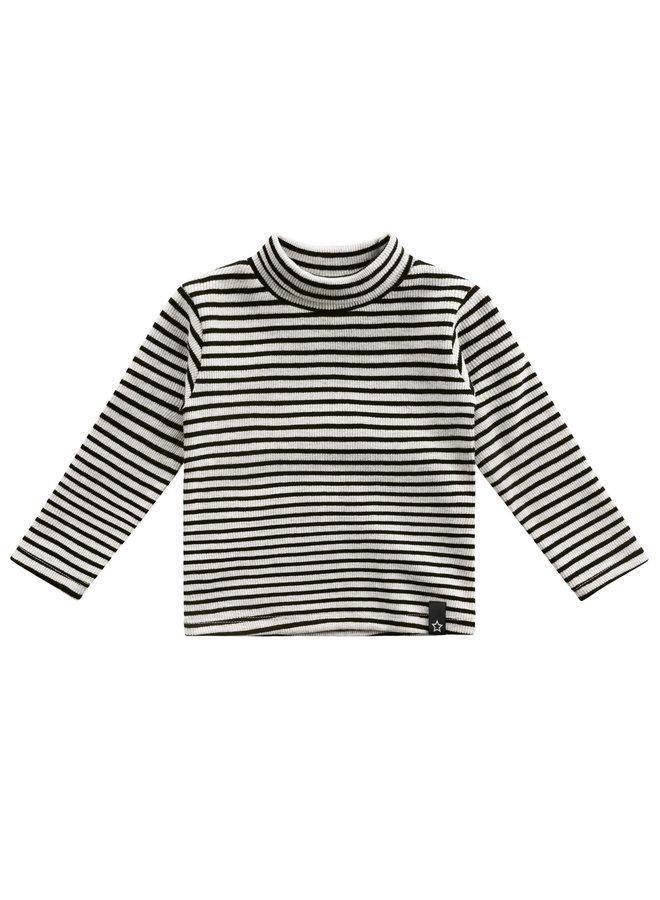Beige - Stripes - Turtleneck - Chalk