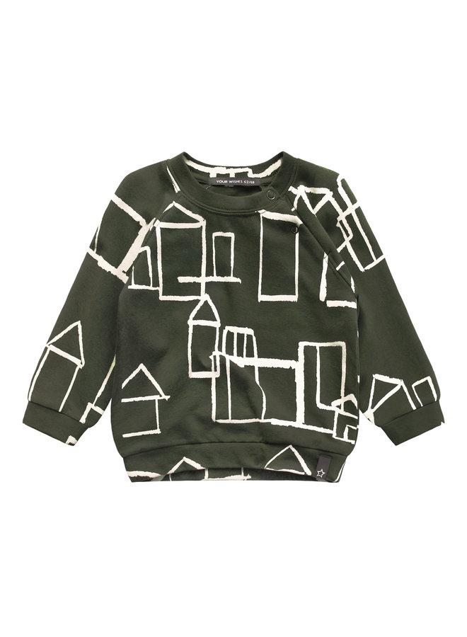 Crayon Town - Sweater - Desk Green