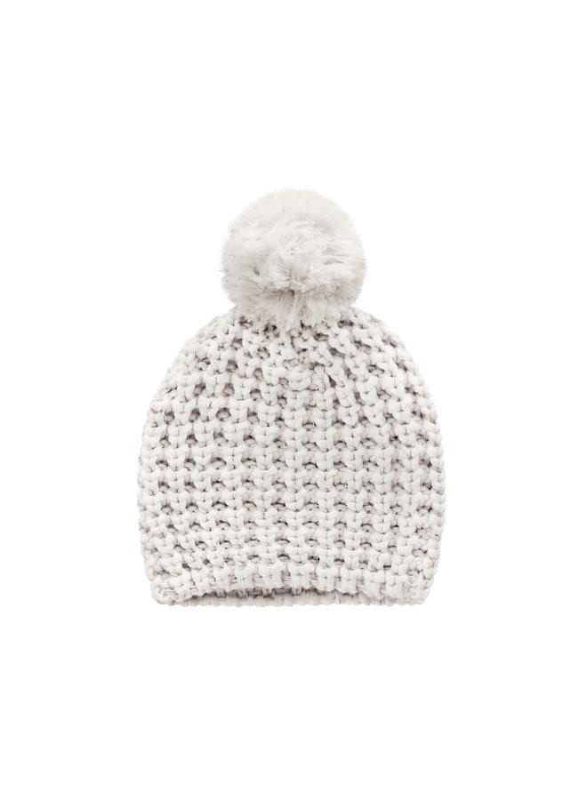 Knit - Pompom Hat - Chalk