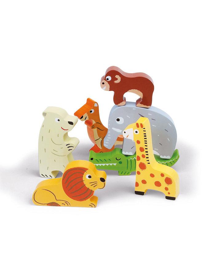 Janod - Chunky Puzzel - Dierentuindieren
