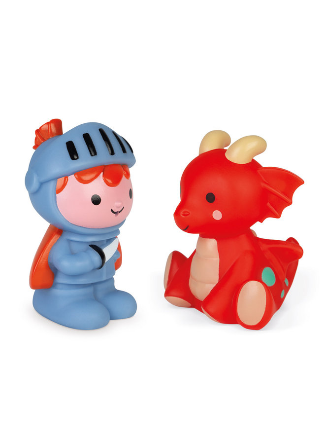 Badspeelgoed - Spuitfiguur Ridder en Lichtgevende Draak