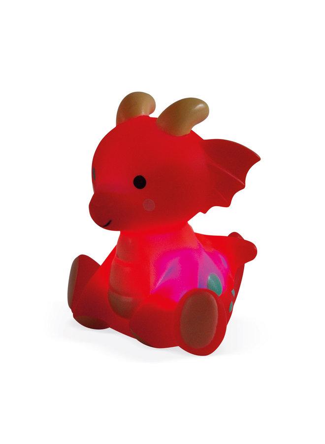 Janod - Badspeelgoed - Spuitfiguur Ridder en Lichtgevende Draak