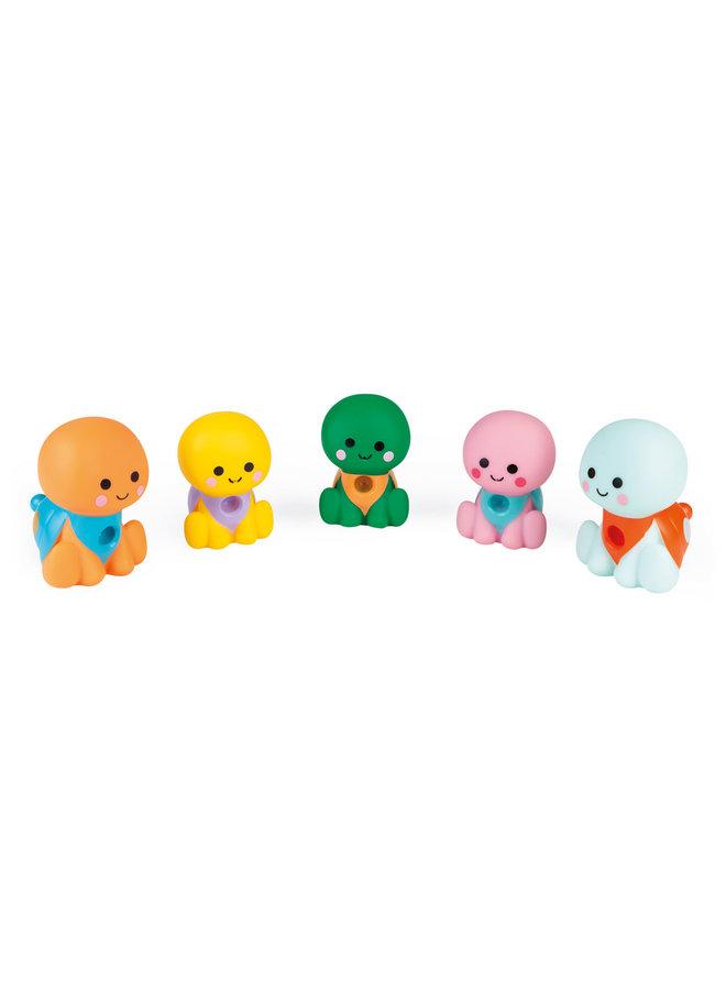 Janod - Badspeelgoed - Spuitfiguur Waterschildpaddenfamilie
