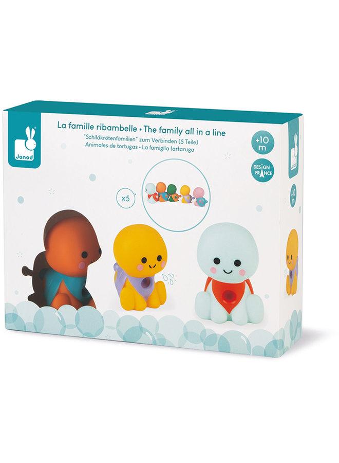 Badspeelgoed - Spuitfiguur Waterschildpaddenfamilie