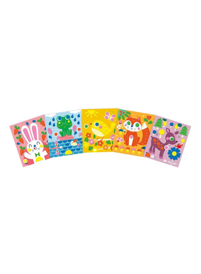 Atelier - Foam stickers verliefde dieren