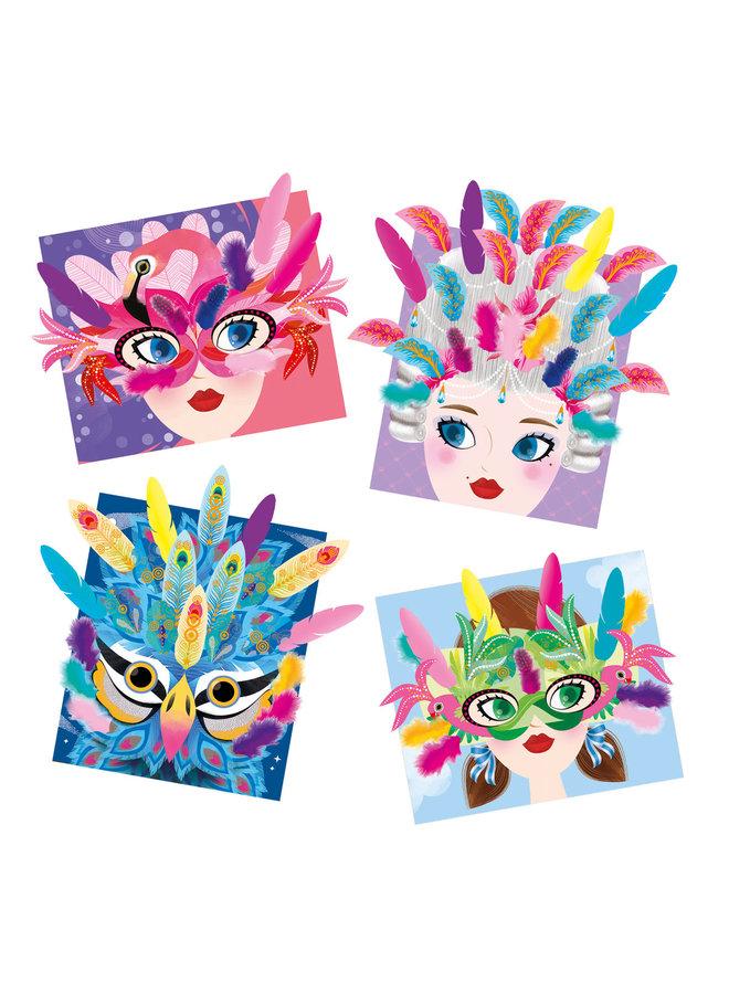 Atelier - Maskers met veren
