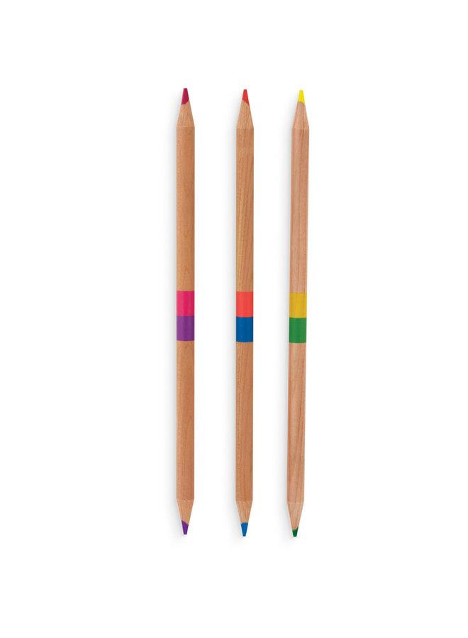 Dubbelzijdige kleurpotloden '2 of a kind'