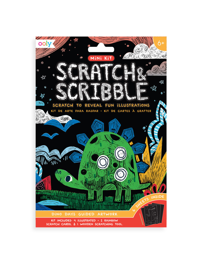 Mini Scratch & Scribble Art Kit - Dino Days