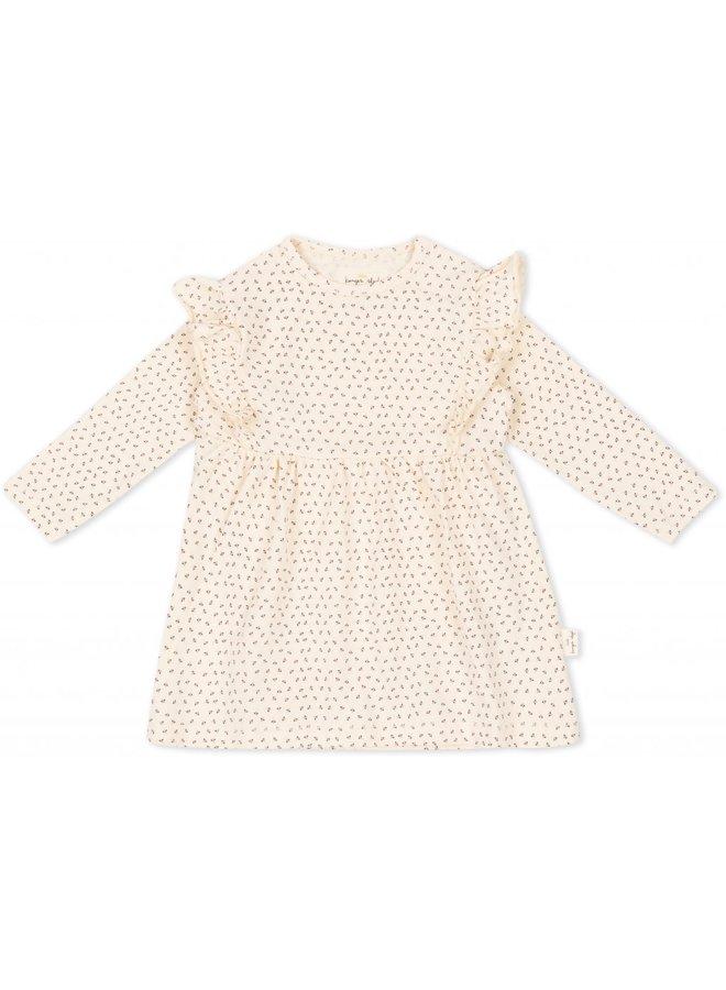 Hygsoft Dress - Tiny Clover Beige