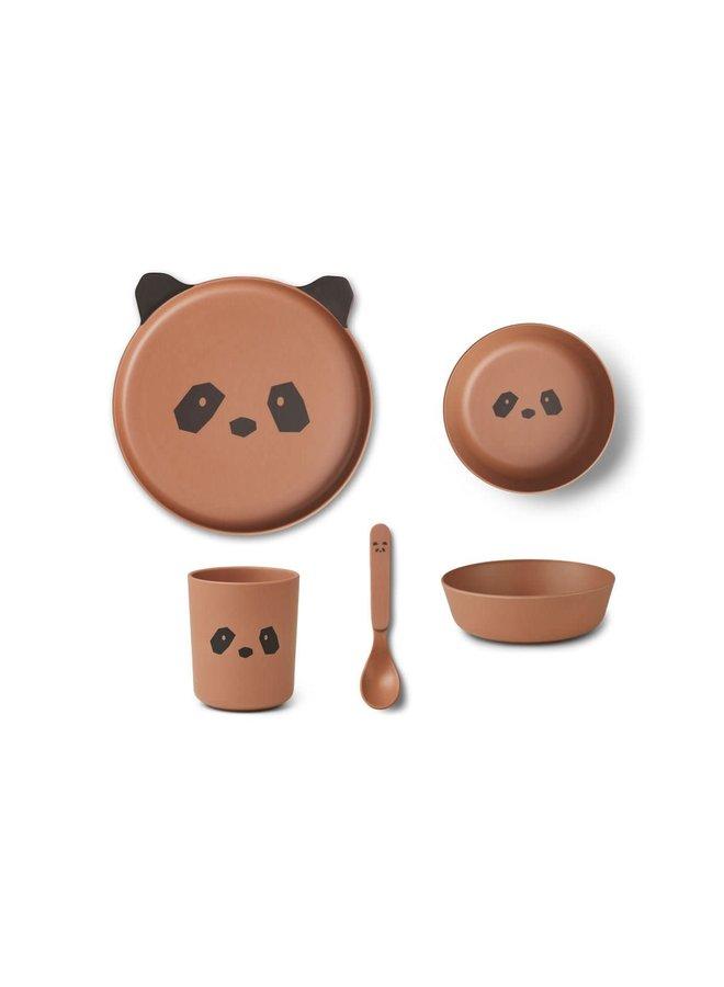 Bamboo Box Set - Panda tuscany rose