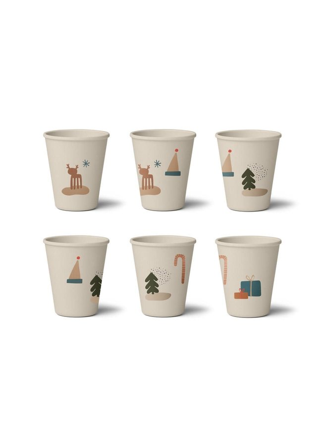 Gertrud Bamboo Cup - 6 pack - Holiday mix