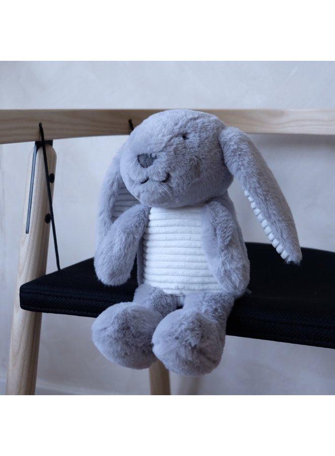 Milo the Bunny (Grey) – Heartbeat Plush Toy