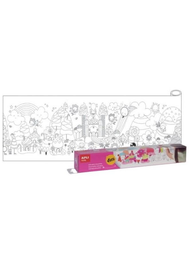 Kleurplaat 4 meter - met plakrand - Magic Candy Land