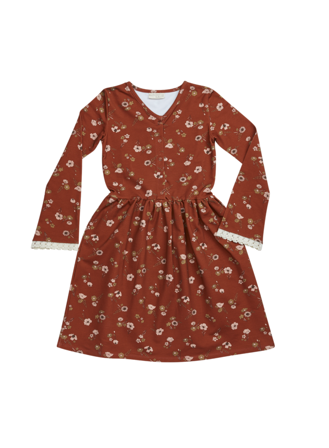 Maxi Dress - Festive Floral - Dusty Terra