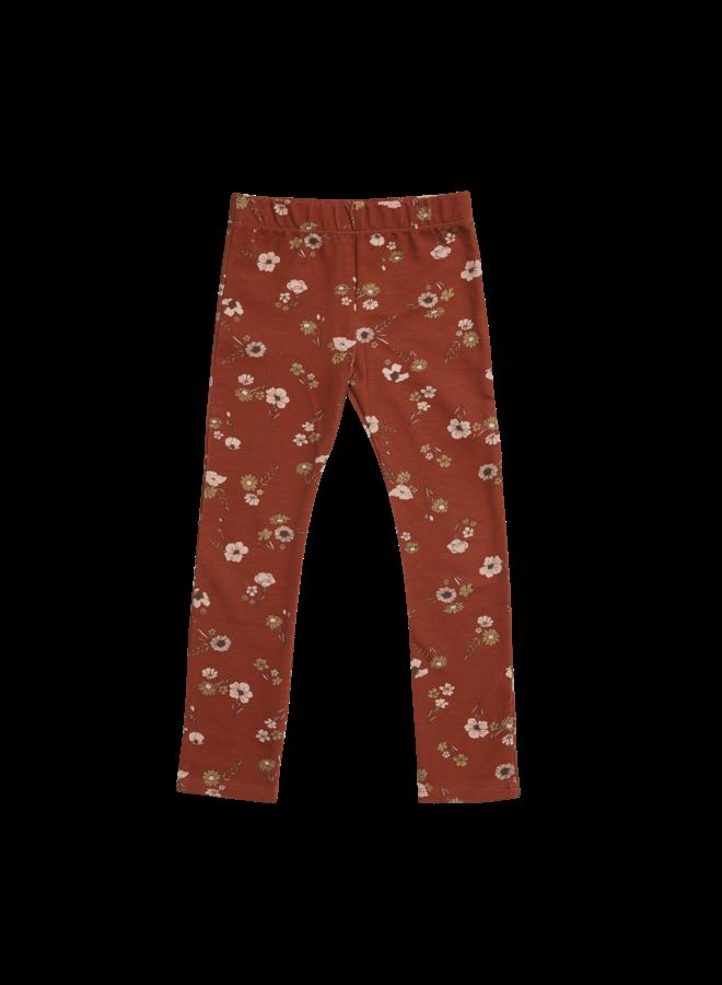 Legging - Festive Floral - Dusty Terra