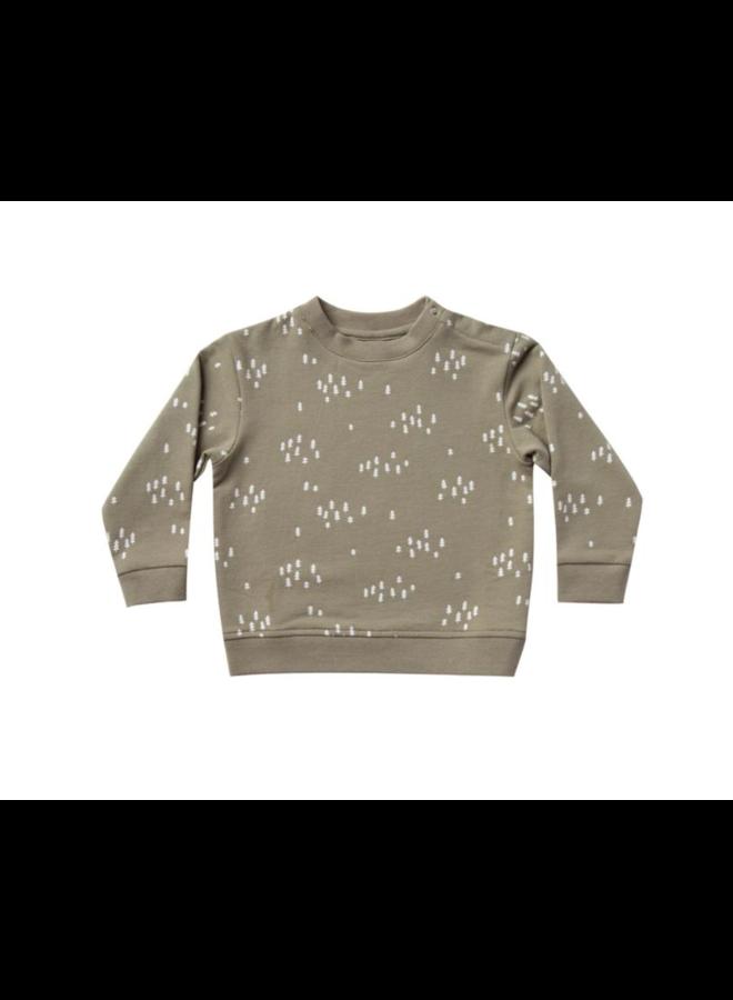 Fleece Basic Sweatshirt - Olive