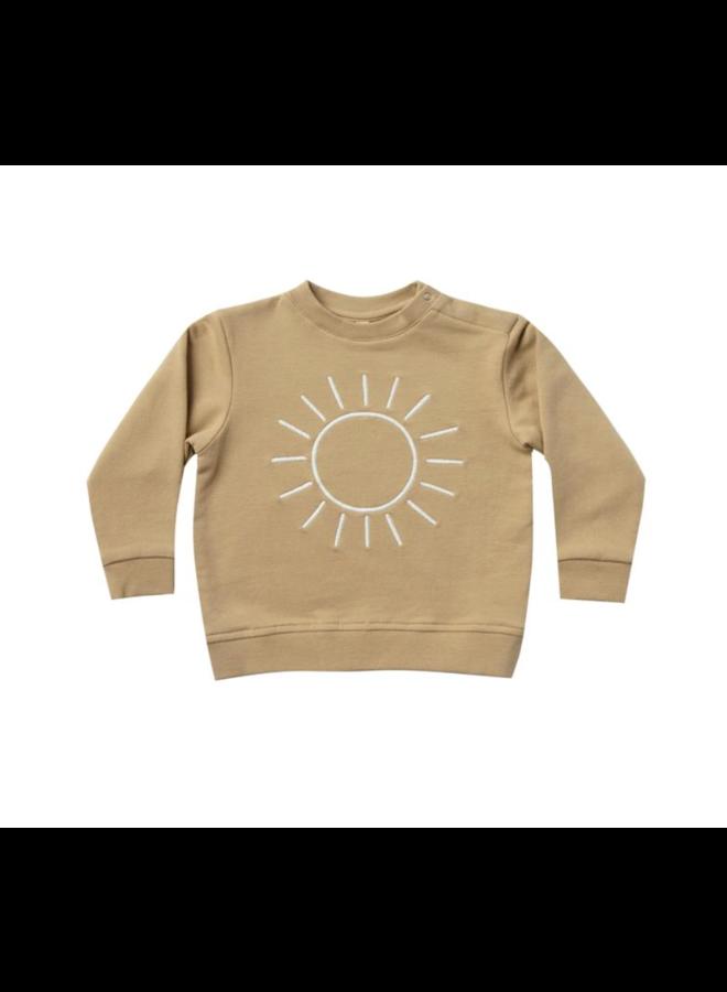Fleece Basic Sweatshirt - Honey