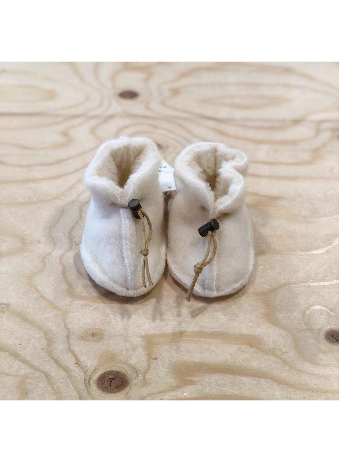Alwero - Babyslofjes Emo Wool - Natural