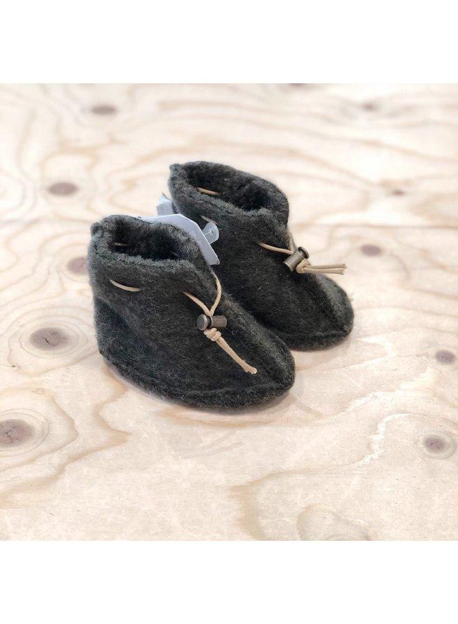 Babyslofjes Emo Wool - Khaki