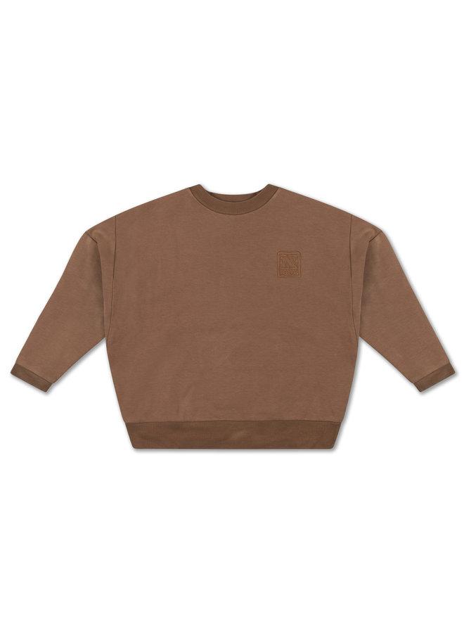Crewneck Sweater - Chocolate Brown