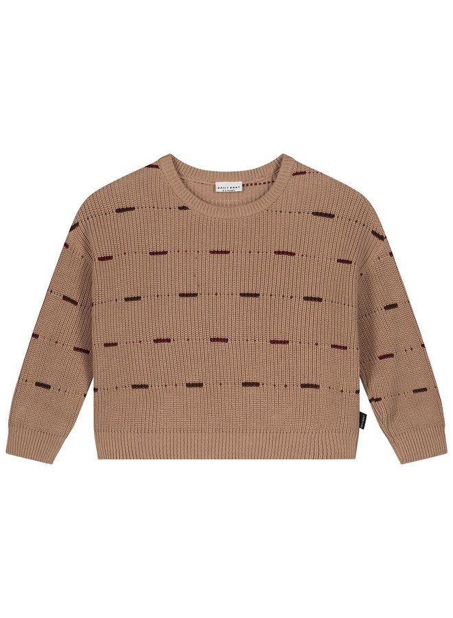 Dawn oversized knitted sweater - Pecan