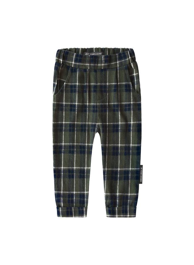 Checks - Pleated Pants