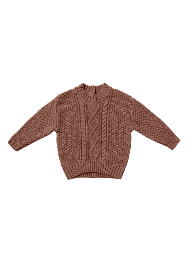Cable Knit Sweater - Clay