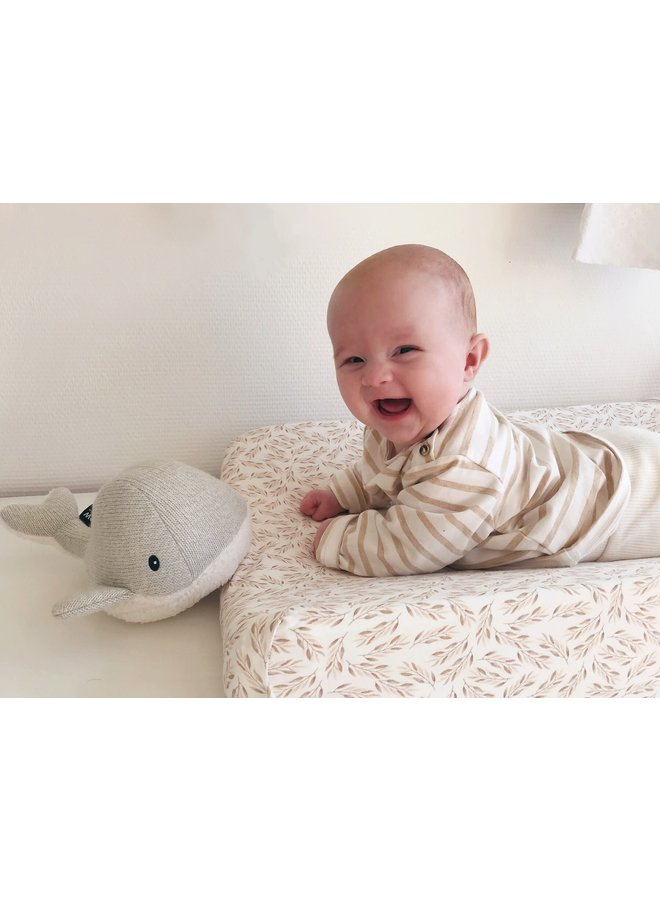 Moby the Whale (Light Grey) – Heartbeat Soft Toy
