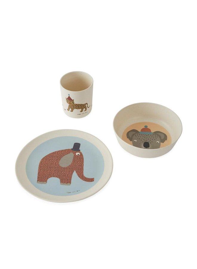 Hathi Bamboo Tableware Set - Offwhite