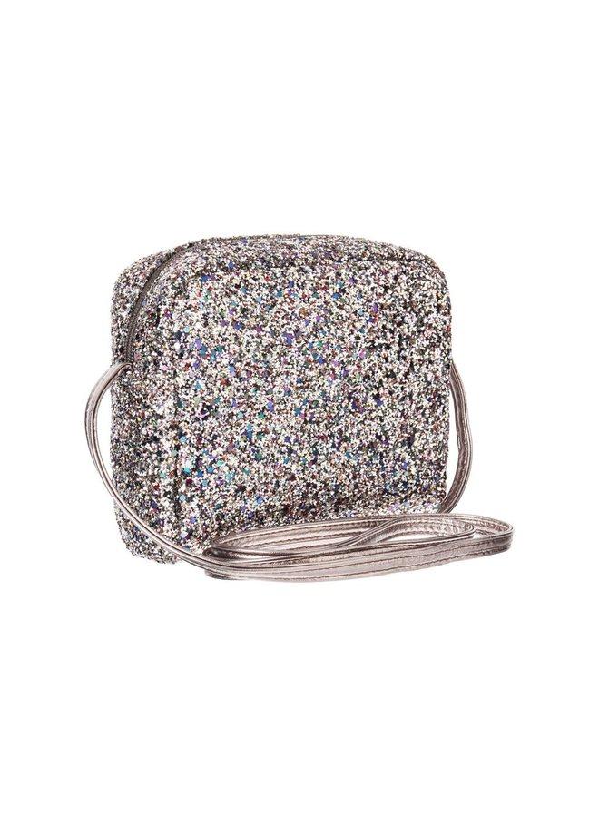 Glitter Cross Body Bag - Hematite