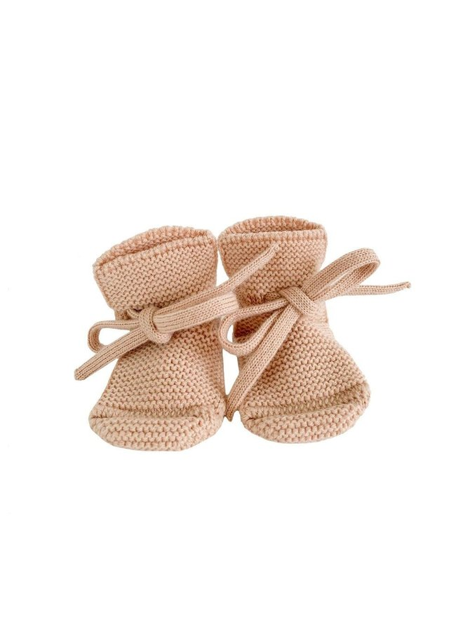 Hvid - Booties - Apricot