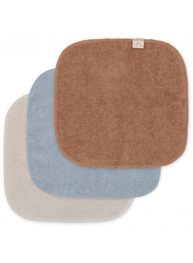 3-pack Terry Wash Cloths - Thunder