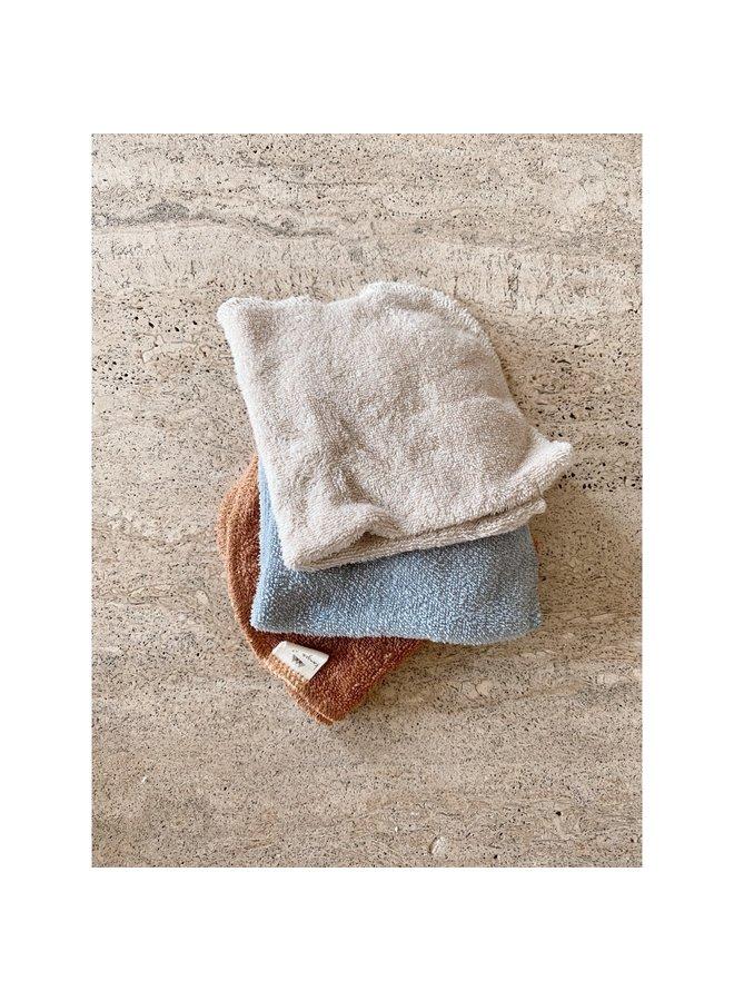 Konges Sløjd - 3-pack Terry Wash Cloths - Thunder