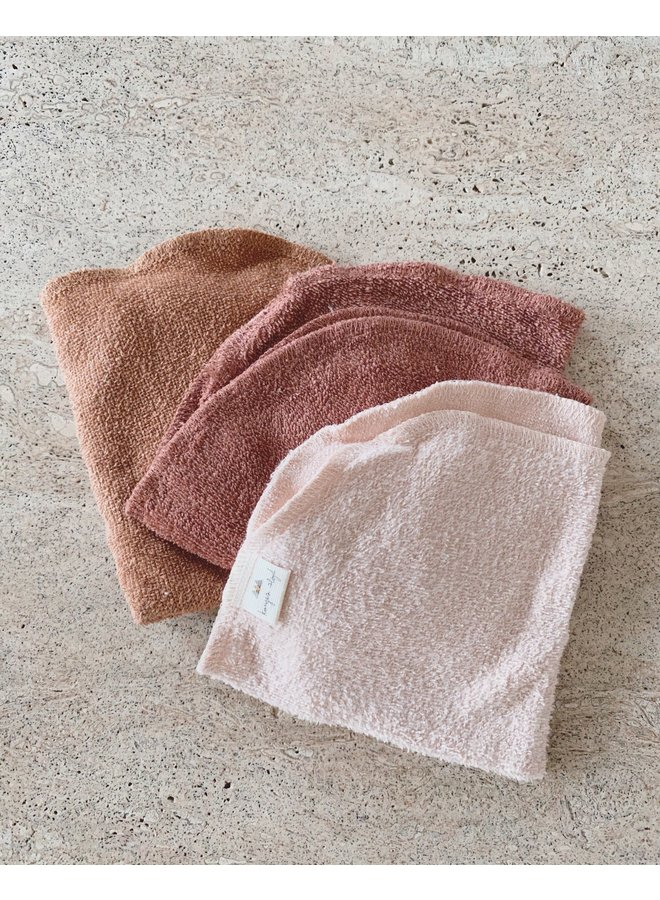 3-pack Terry Wash Cloths - Bloom