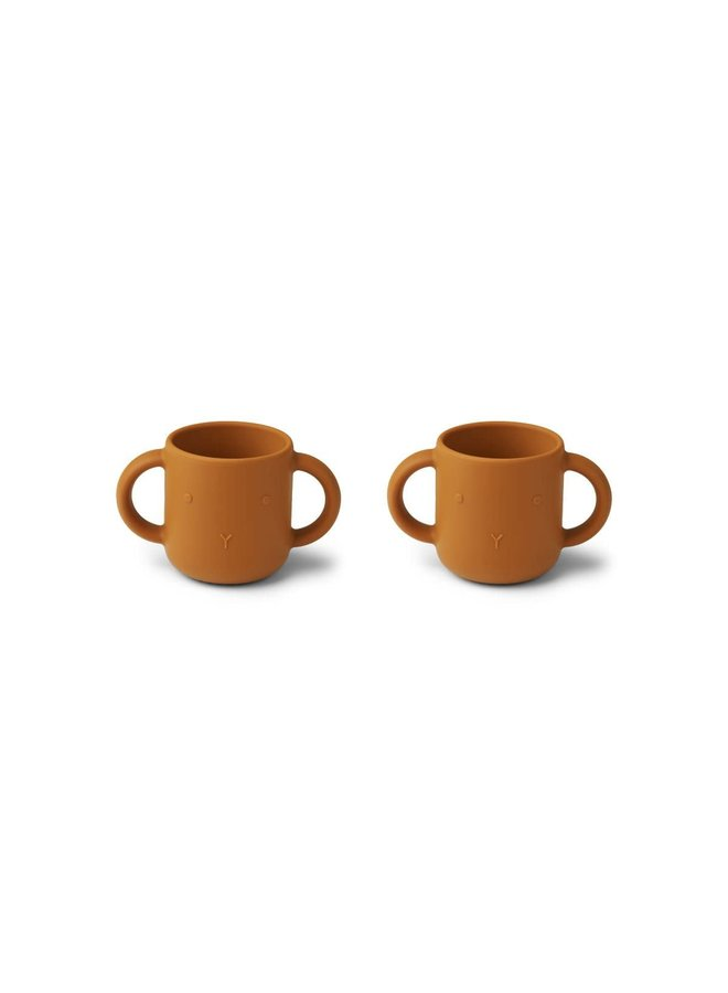 Gene silicone cup - 2 pack - Rabbit mustard
