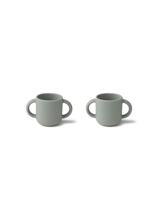 Gene silicone cup - 2 pack - Dove blue