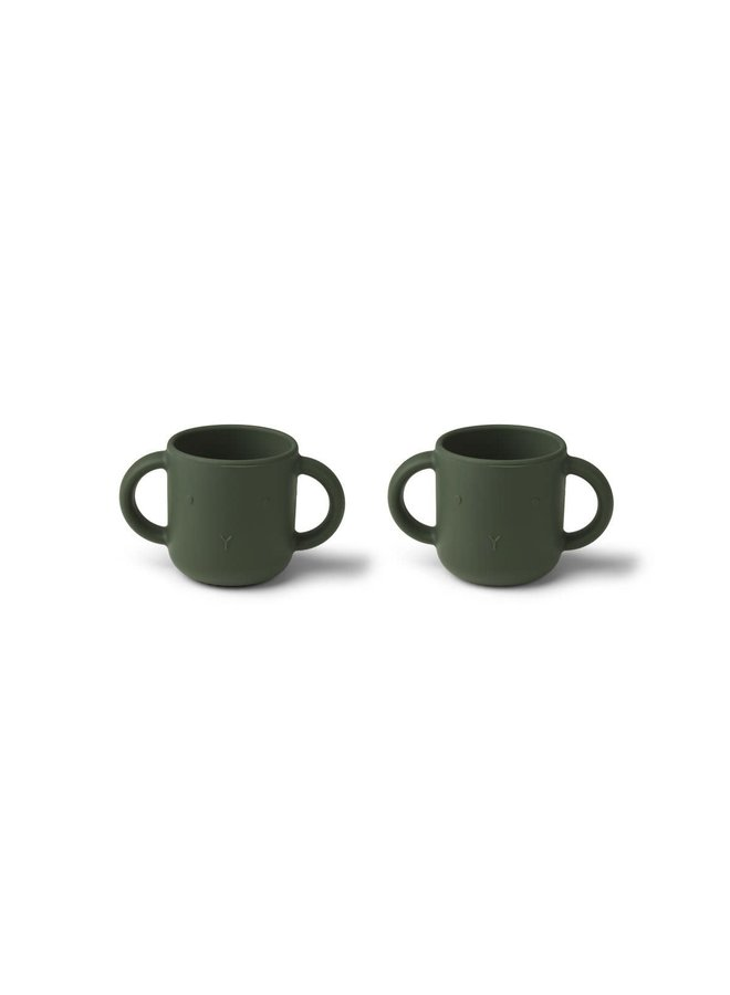 Gene silicone cup - 2 pack - Hunter green