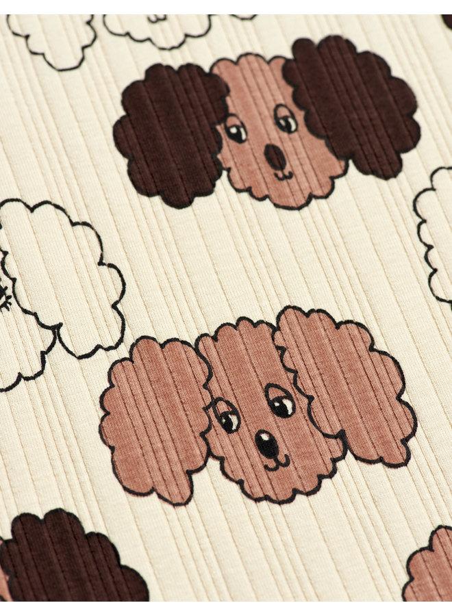Fluffy Dog AOP Ss Tee - Beige