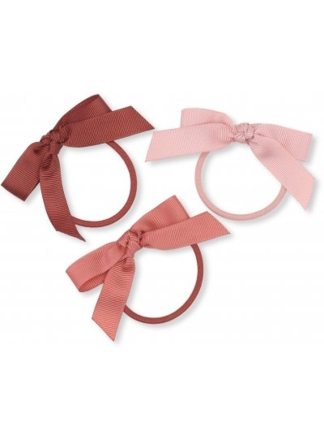 Konges Sløjd - 3 Pack Hair Elastics Bow - Ray Of Light